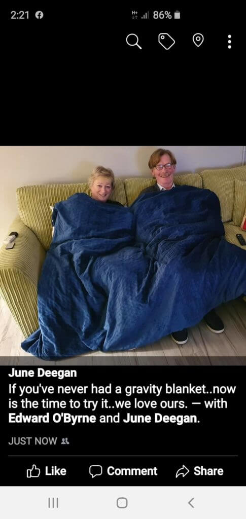 Review of the gravity weighted blanket - June Deegan
