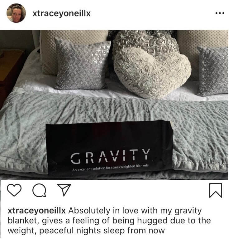 Review of the gravity weighted blanket - xtraceyoneillx