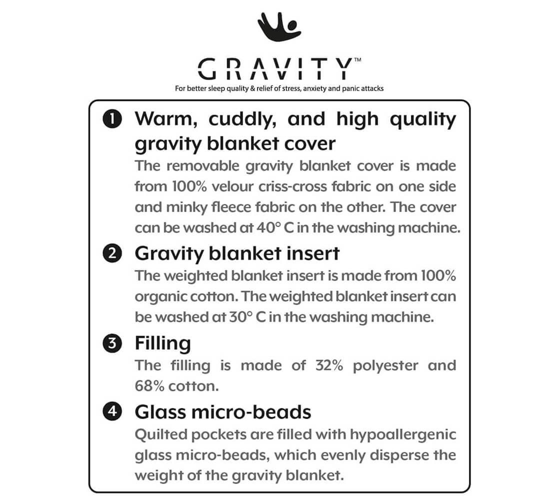 Gravity Blanket properties