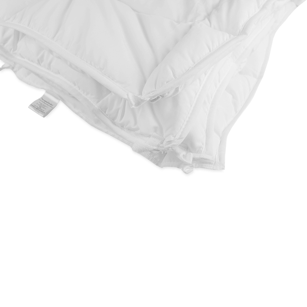white Gravity Blanket corner