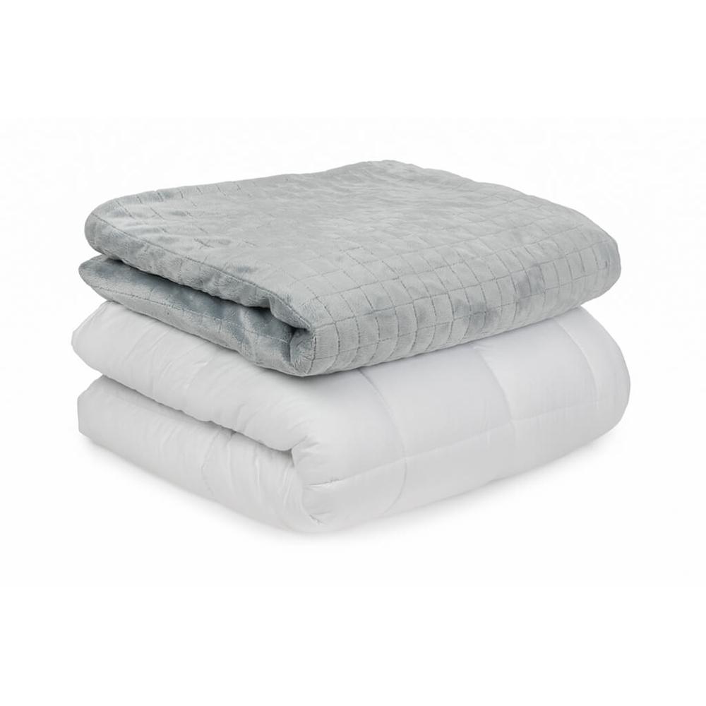 white Gravity Blanket corner