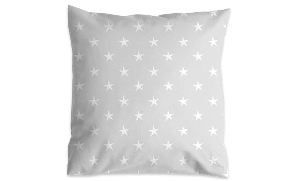 Therapeutic pillowcase light grey with stars